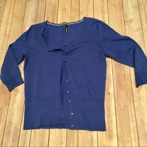 Maurices basic 3/4 sleeve button cardigan size M